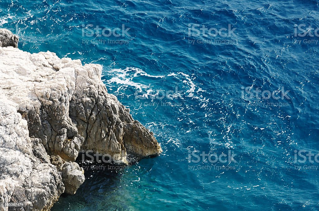 Rocky sea beach. royalty-free stock photo