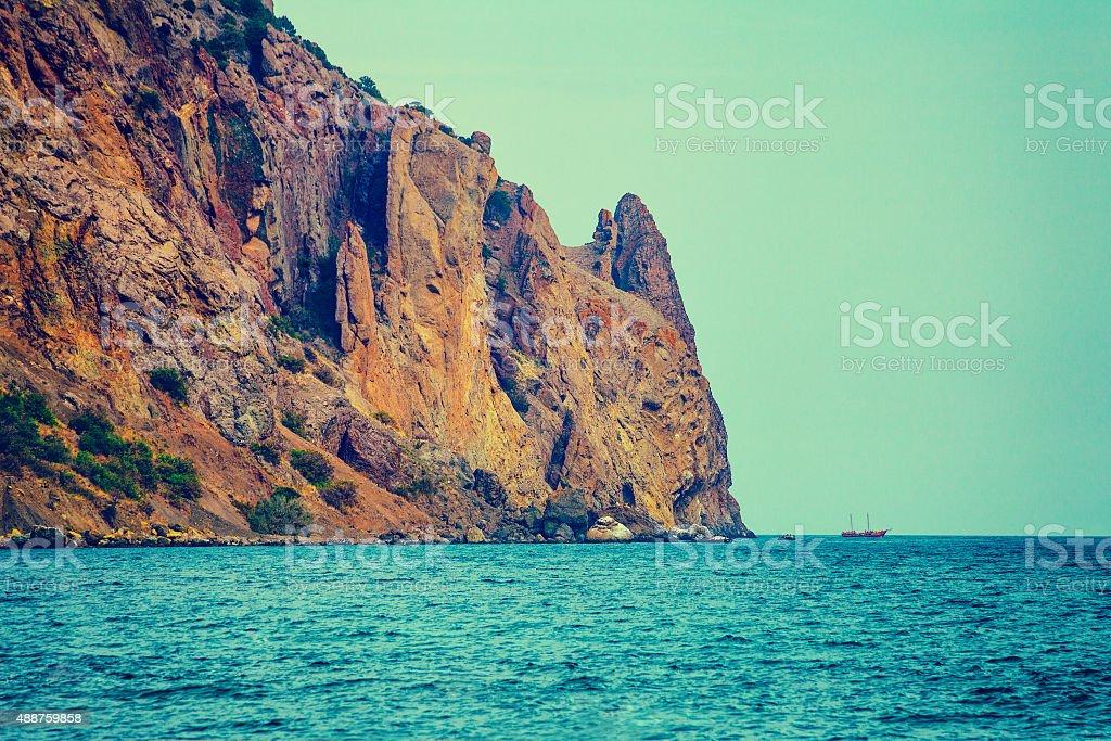 Rocky sea coast royalty-free stock photo