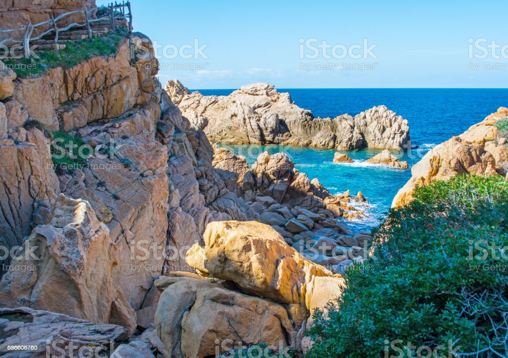 Rocky shore in spring royalty-free stock photo