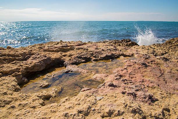 Rocky shore stock photo