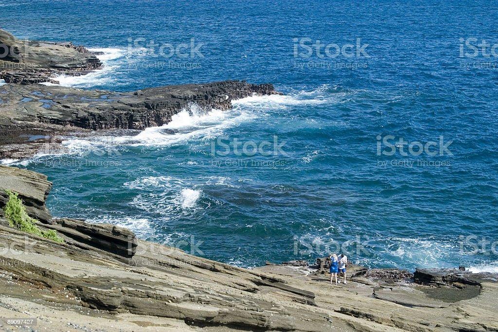 Rocky shore royalty-free stock photo