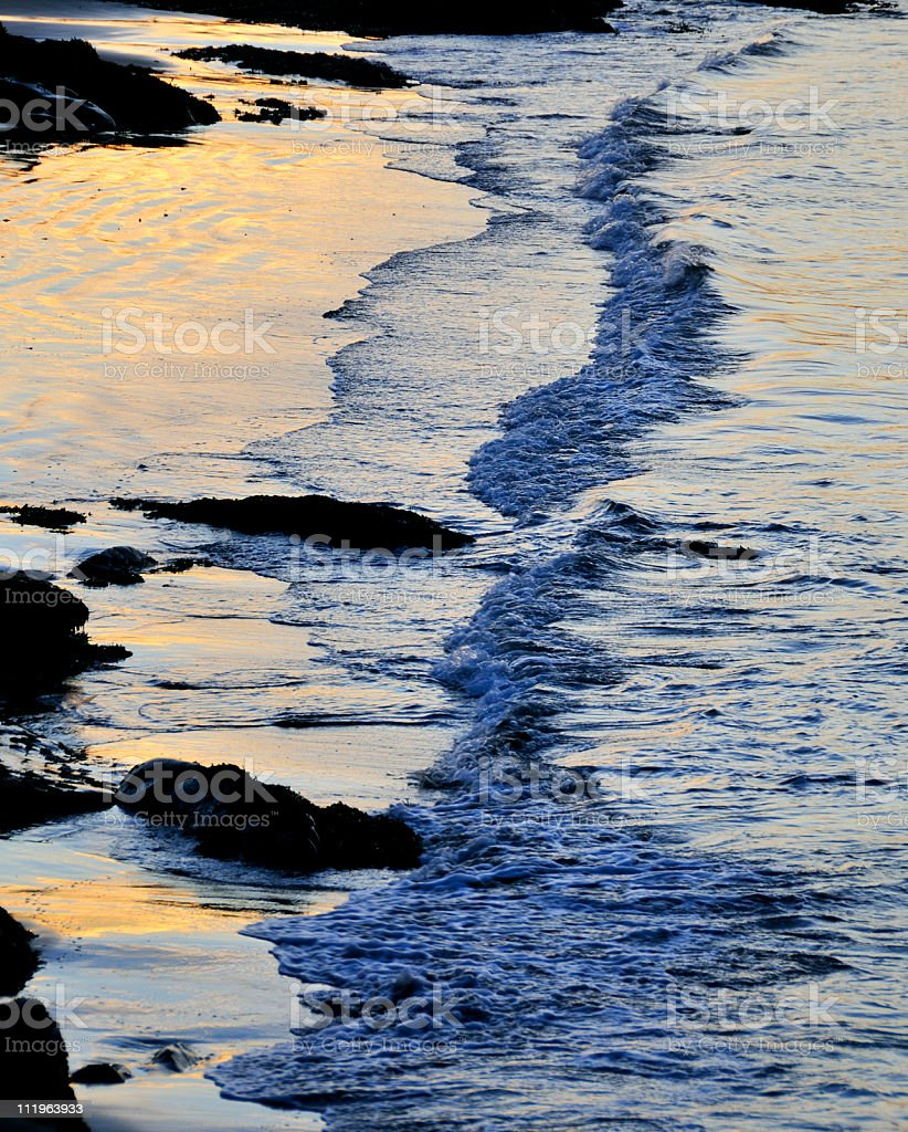 Rocky Shoreline at Dawn royalty-free stock photo