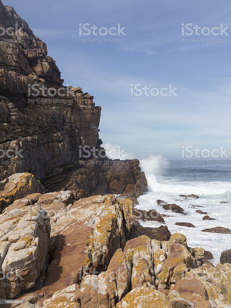 Rocky shoreline Cape of Good Hope royalty-free stock photo