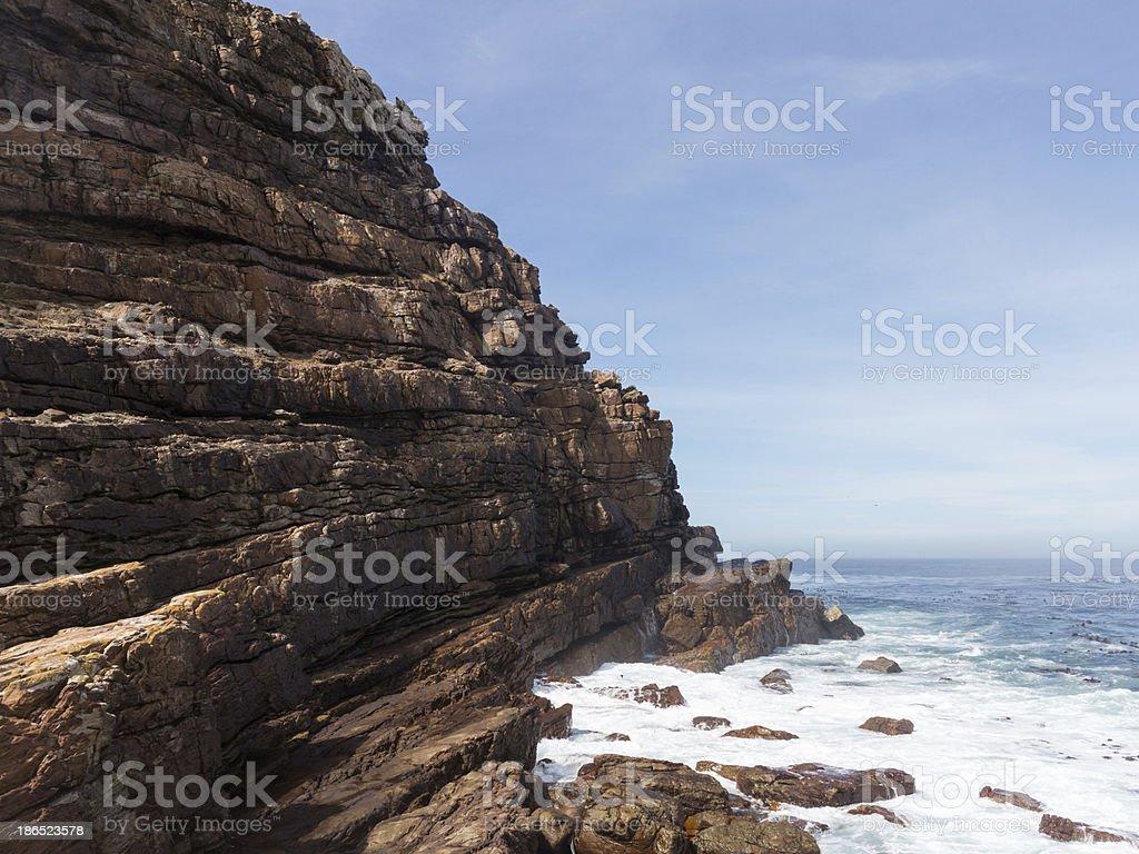 Rocky shoreline Cape of Good Hope royalty-free stock photo