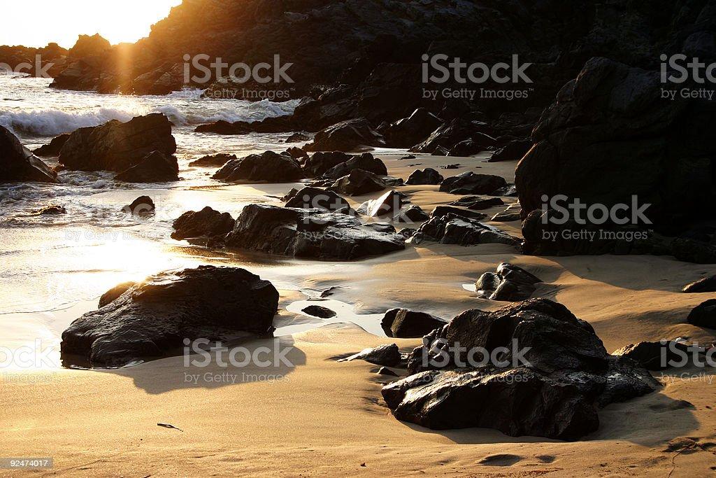 rocky shoreline royalty-free stock photo
