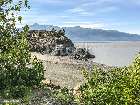 Beluga Point, in Alaska, is a must see for tourists. This rocky shoreline offers stunning views. Located south of Anchorage, this area provides 180 degree viewing of Turnagain arm. Visitors to this area can see beautiful rock formations, whale watching, and bore tides.