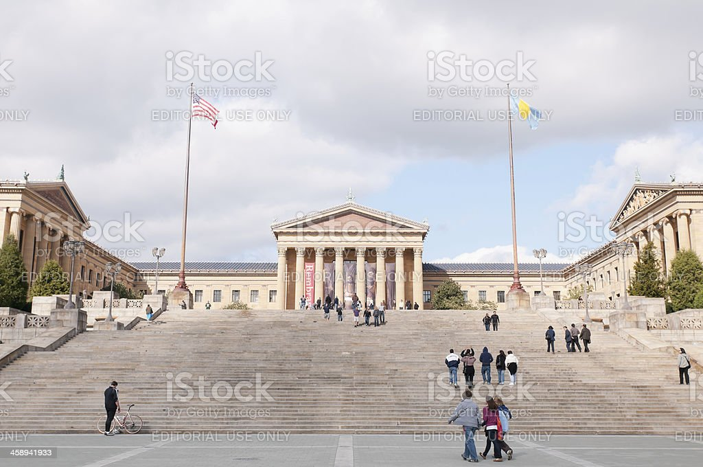 Rocky Steps at the Philadelphia Museum of Art stock photo