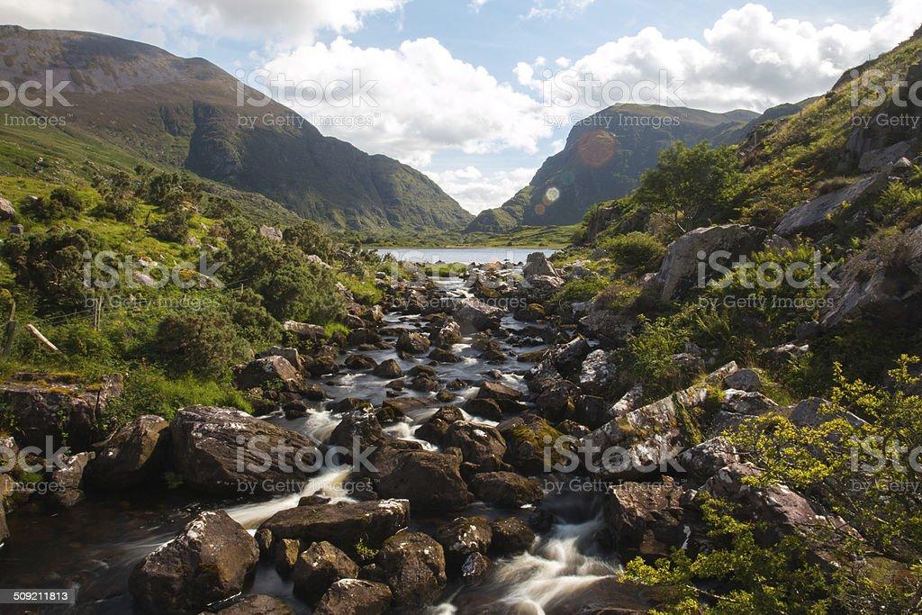 Rocky Stream In Gap Of Dunloe stock photo