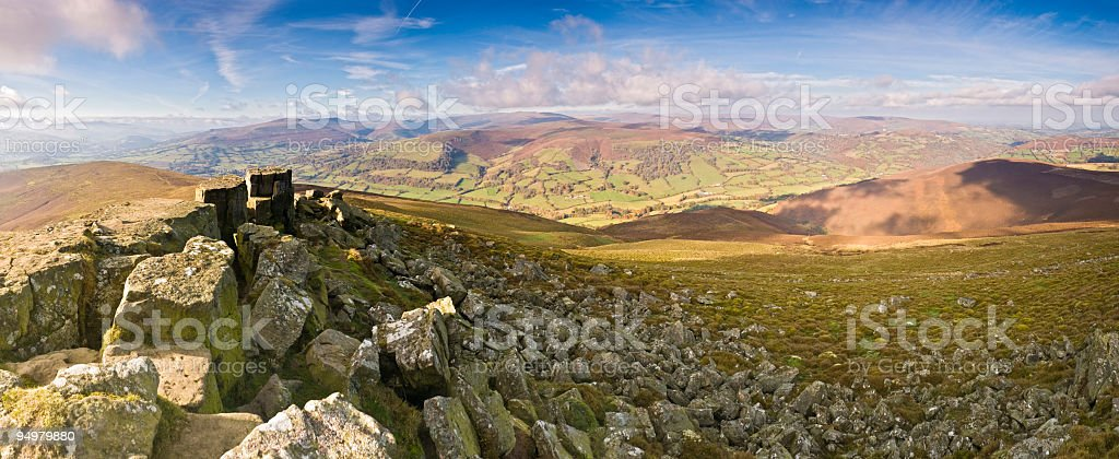 Rocky summit rolling landscape royalty-free stock photo