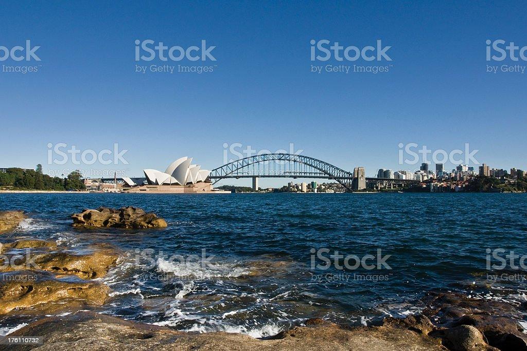 Rocky Sydney Cityscape royalty-free stock photo