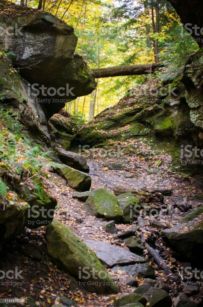 Rocky trail stock photo