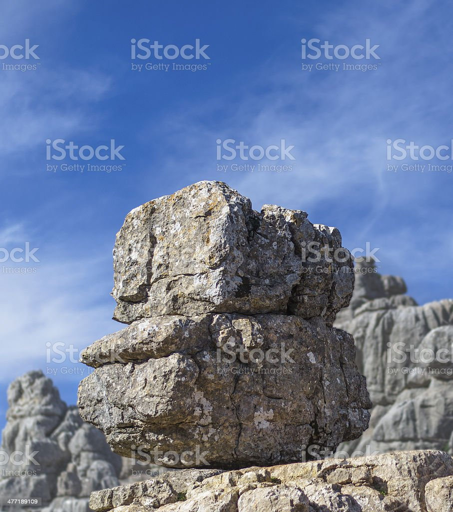 Rocky view in Torcal stock photo