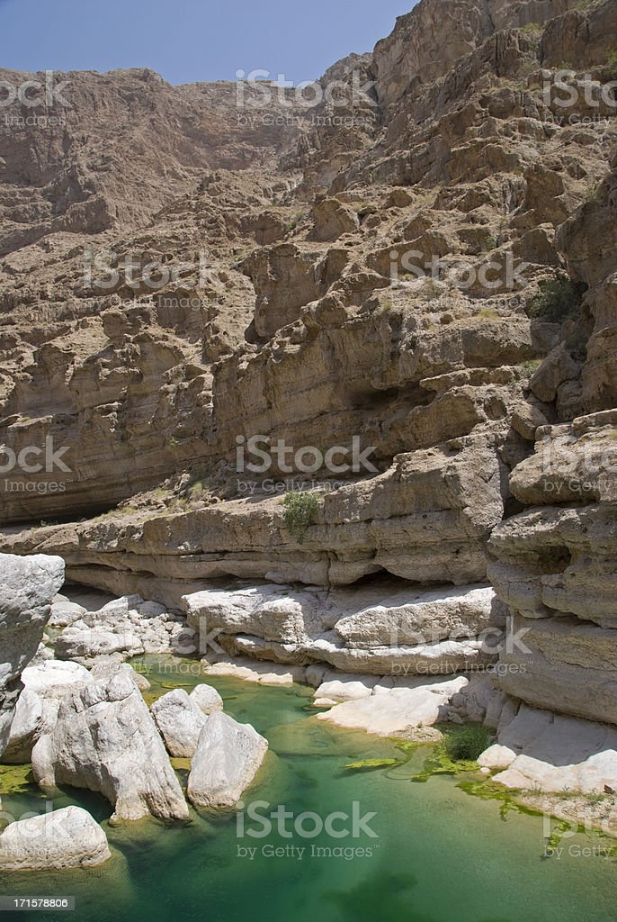 Rocky Wadi stock photo