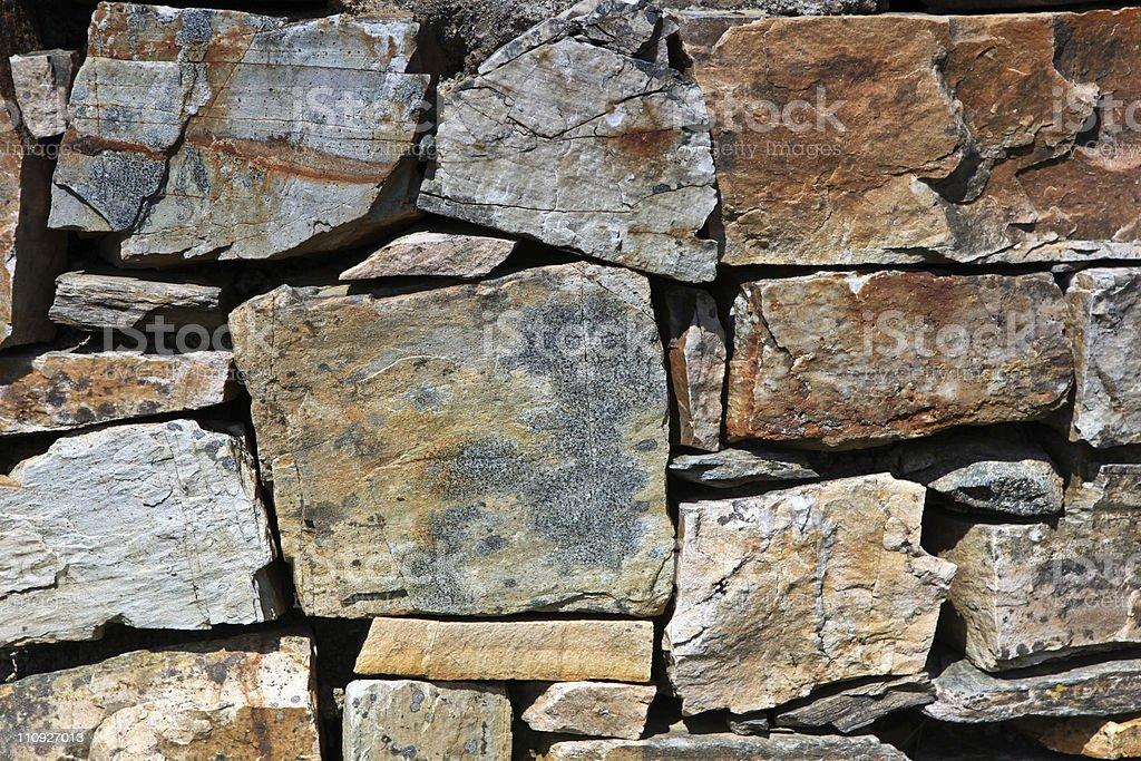 Rocky wall royalty-free stock photo