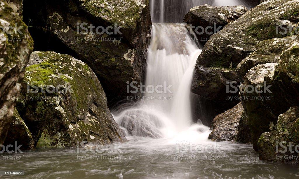 Rocky Waterfall Panorama - 52 Megapixel royalty-free stock photo