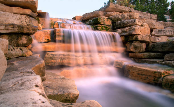 Rocky Waterfall stock photo