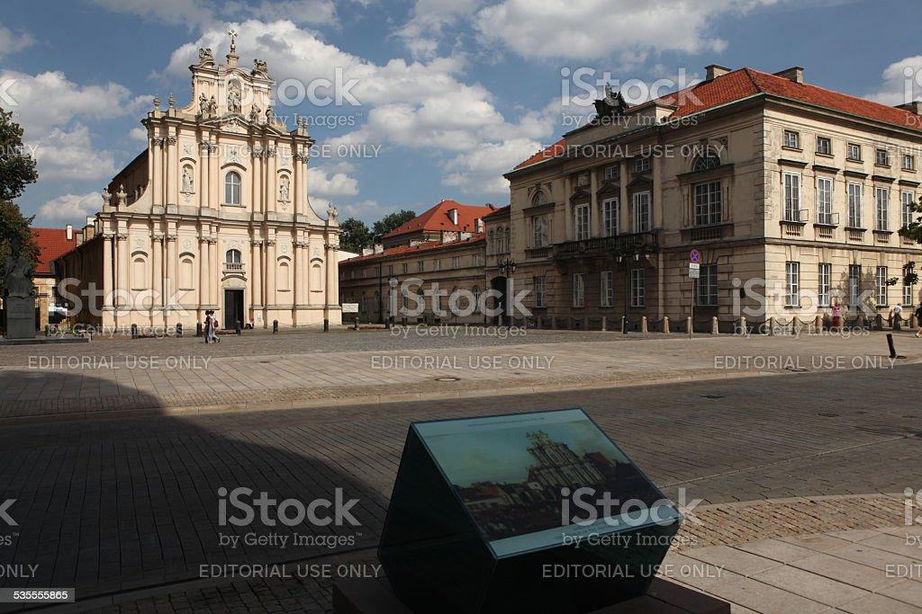 Rococo church of the Visitandines in Warsaw, Poland. stock photo
