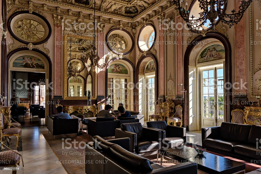 Awe Inspiring Rococo Style Interior Of Historic Palace Of Estoi Portugal Best Image Libraries Weasiibadanjobscom