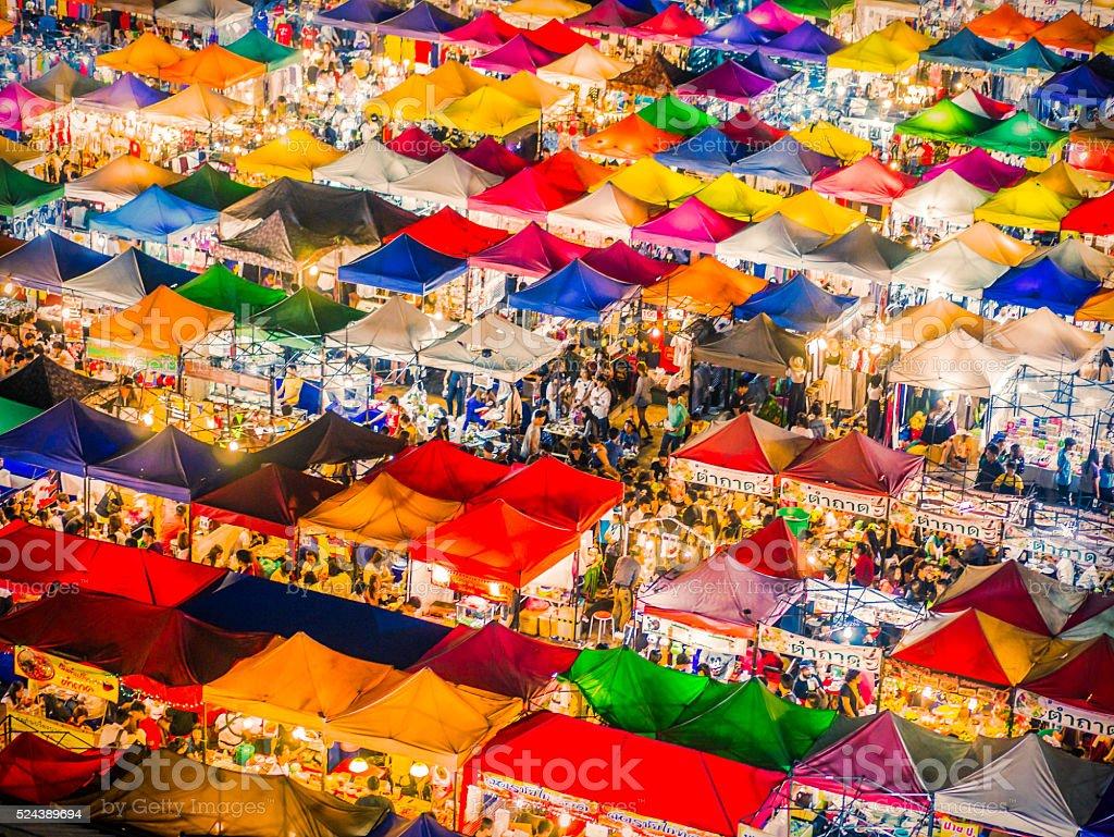 Asta Fai mercato Bangkok Tailandia - foto stock