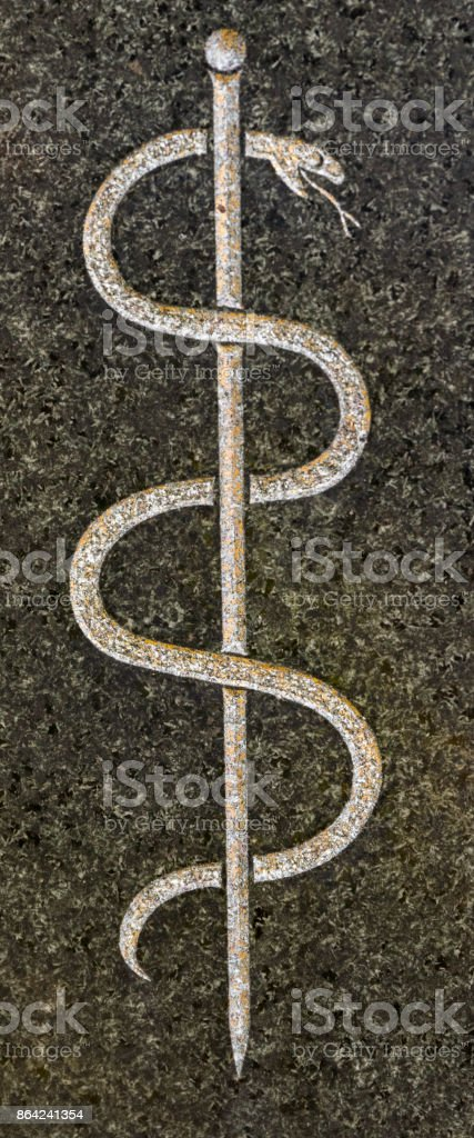 Rod of Asclepius royalty-free stock photo