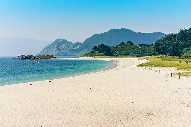 Rodas beach in Cies Islands stock photo