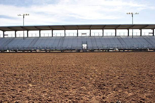 Rodeo arena stock photo