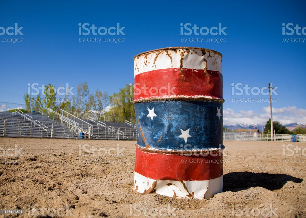 Rodeo Barrel royalty-free stock photo