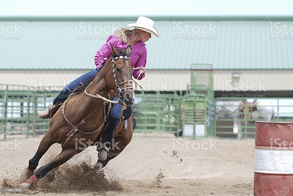 Rodeo Barrel Racer stock photo