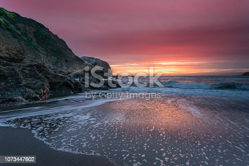 Rodeo Beach in the Golden Gate National Recreation Area, California