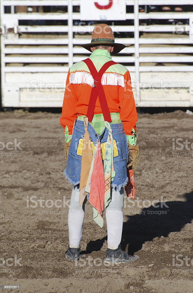 Rodeo Clown stock photo