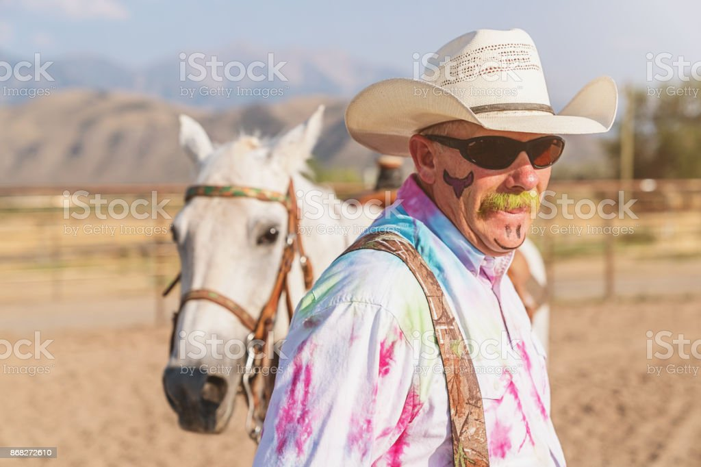 Rodeo Clown Real People Portrait stock photo