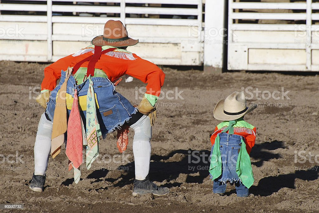 Rodeo Clowns stock photo