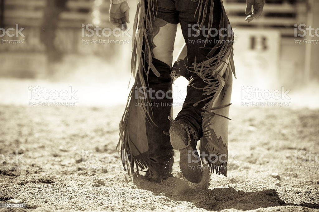 Rodeo cowboy in Montana stock photo