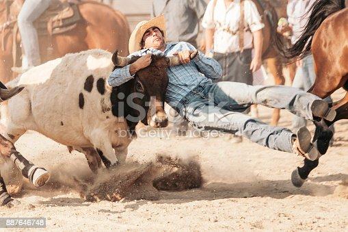 istock Rodeo Cowboy in Utah 887646748
