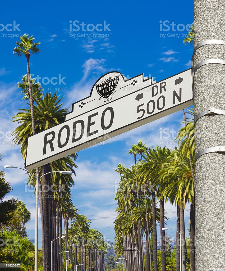 Rodeo Drive Beverly Hills royalty-free stock photo