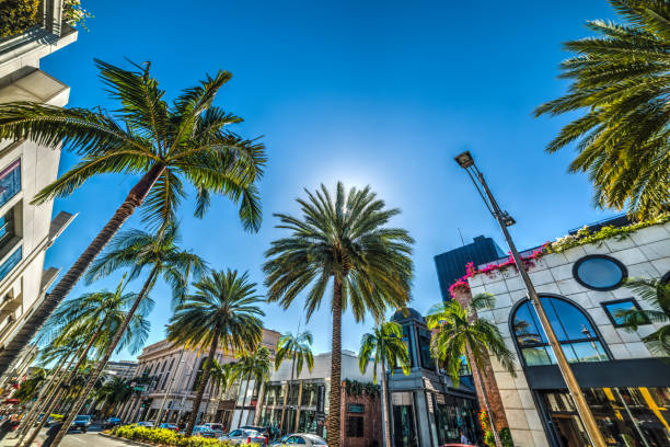 Rodeo drive in Beverly Hills stock photo