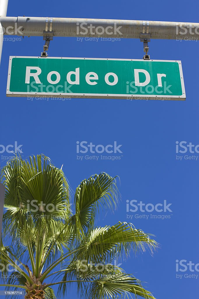 Rodeo Drive royalty-free stock photo