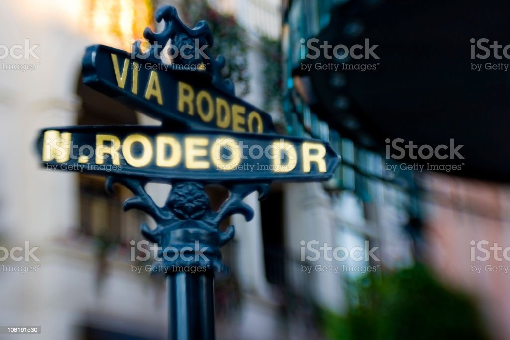 Rodeo Drive Sign  in Beverly Hills royalty-free stock photo