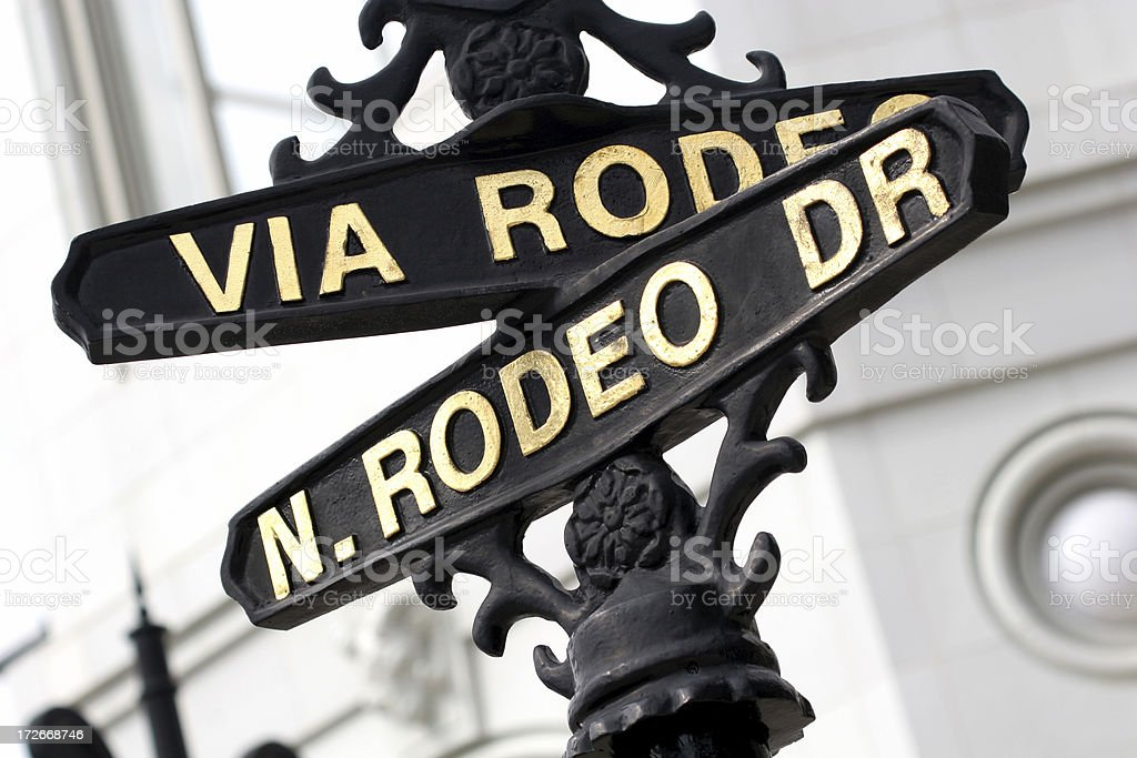 Rodeo Drive sign royalty-free stock photo
