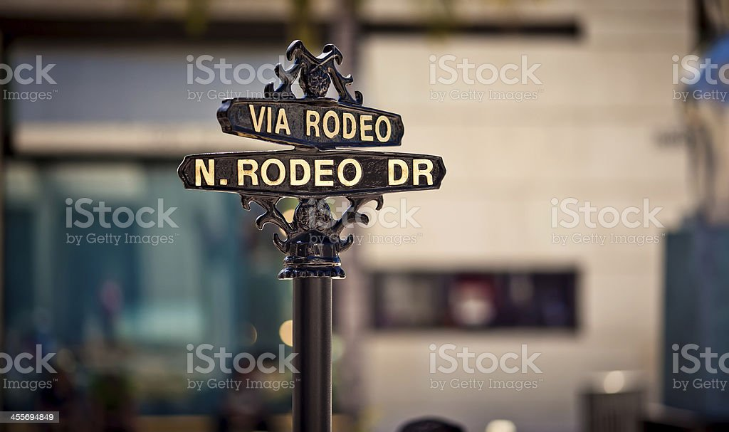 Sign And Drive 45 >> Rodeo Drive Sign Stock Photo Download Image Now Istock