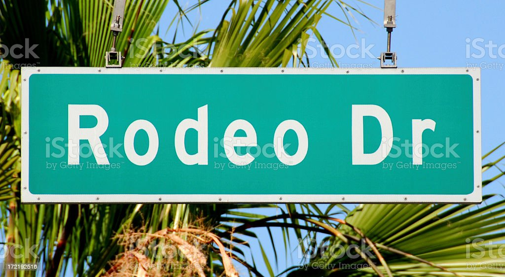 Rodeo Drive Street Sign, Beverly Hills, California royalty-free stock photo