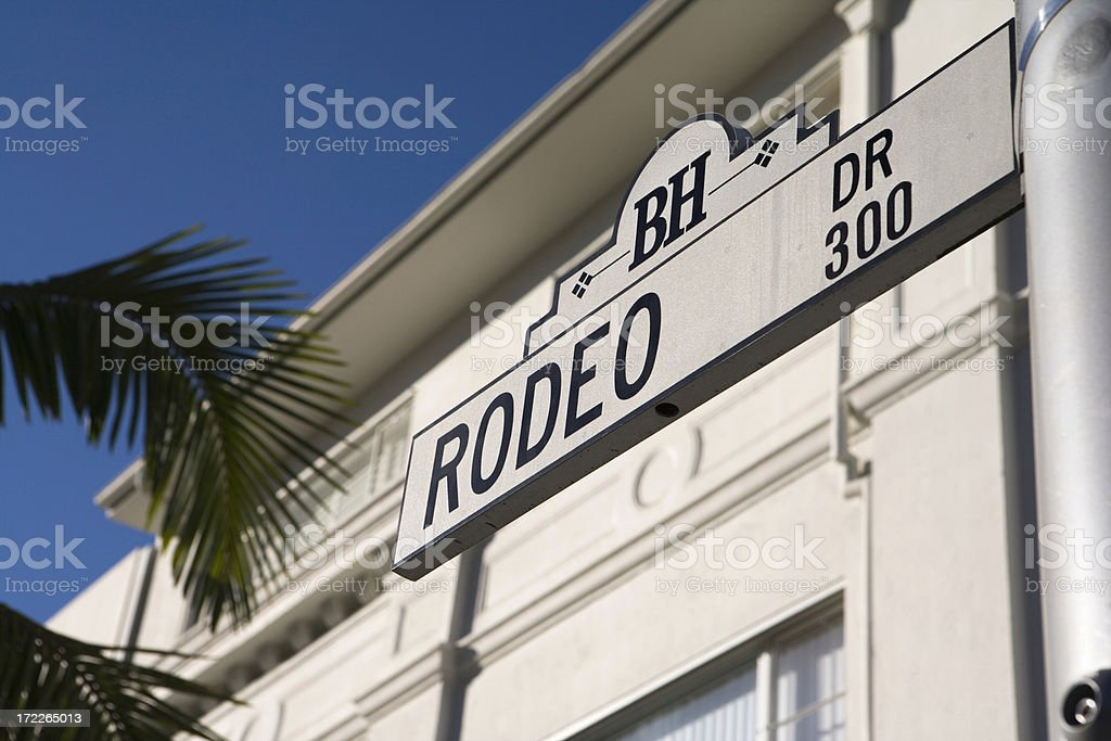 Rodeo Drive street sign in Beverly Hills, California stock photo