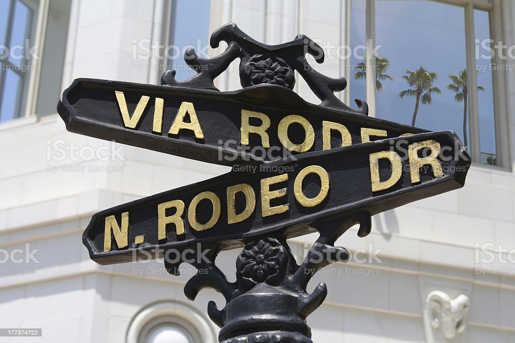 Rodeo drive street sign (Beverly Hills) stock photo