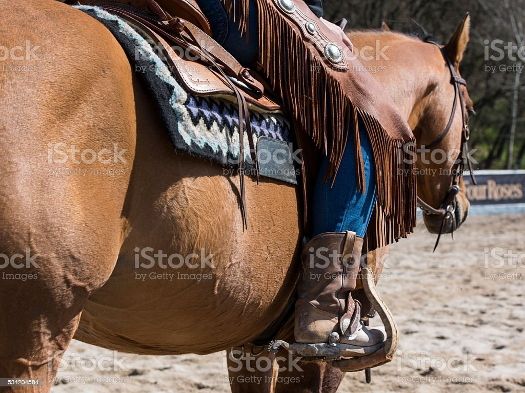 Rodeo equipment for cowgirl or cowboy stock photo