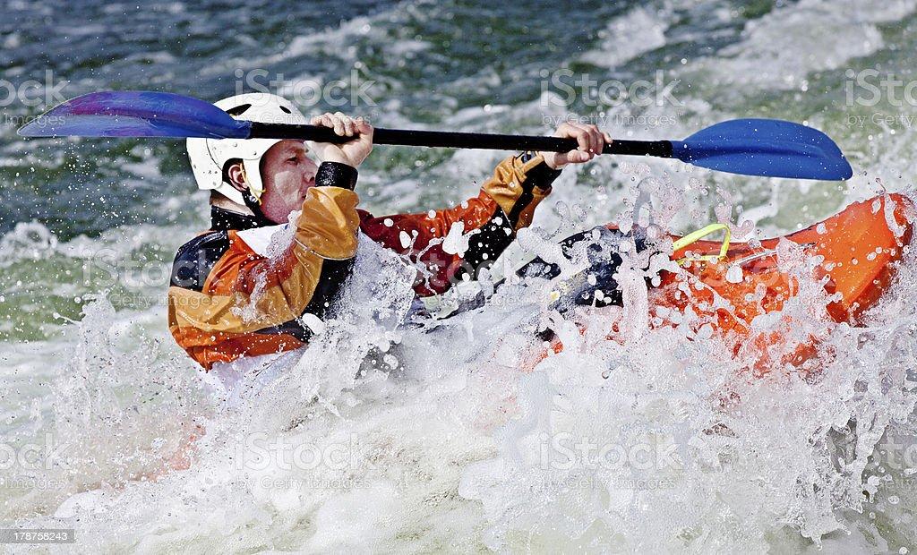 rodeo kayaking royalty-free stock photo