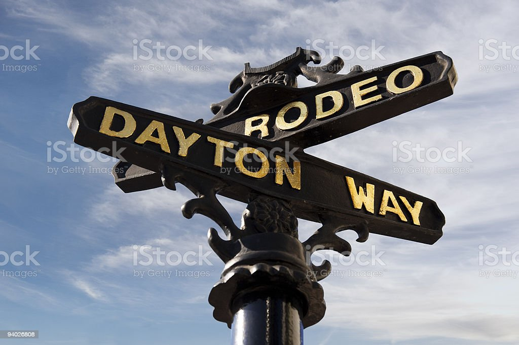 Rodeo on the street royalty-free stock photo