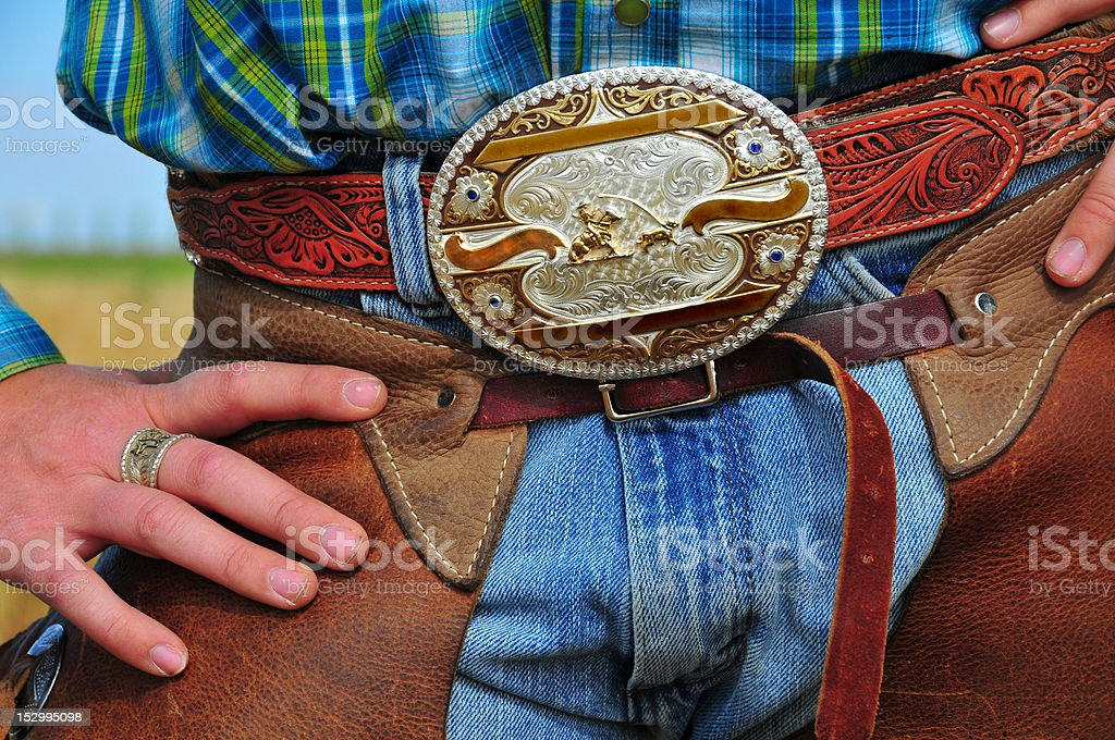 Rodeo Queen Prize Buckle stock photo