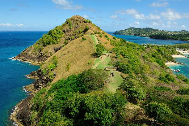 Rodney Bay on Saint Lucia stock photo