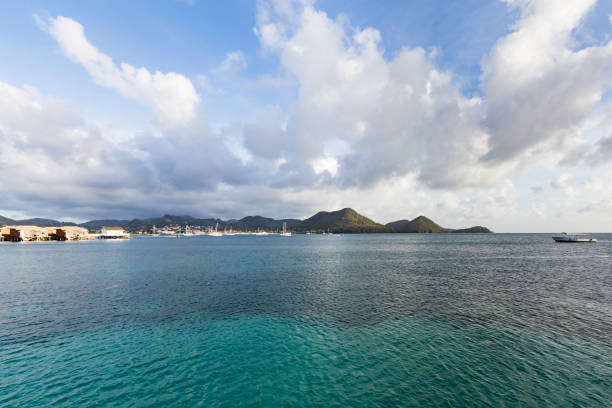 Rodney Bay, St Lucia stock photo