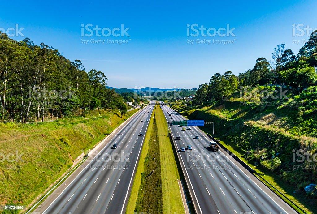 Rodovia dos Bandeirantes, São Paulo, Brasil - foto stock